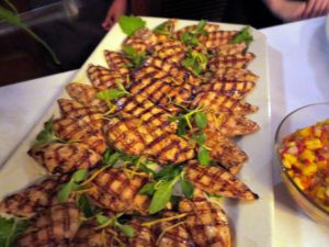 There was beautifully grilled chicken.