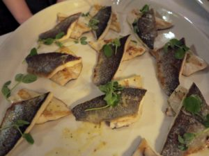And tender sauteed trout