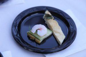 Shrimp, cucumber and dill butter canapé