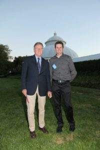Meanwhile, Gregory Long - President of NYBG and Shaun - my gardener shared an engaging conversation.