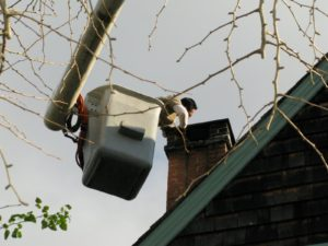 The first task at hand was to remove the chimney cap.