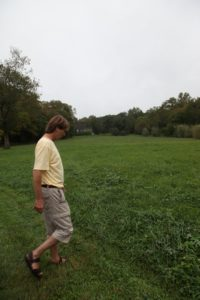 The group was transported by Kawasaki to one of the hay fields, where Dominick is having a weed issue.