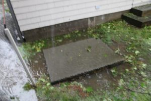 This drain cover is almost under water - the drain was completely full - I guess like the culverts in New York City.
