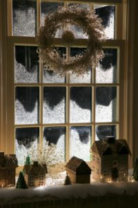 The windows were frosted so artfully.