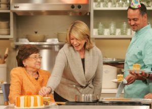 Like so many of you, I loved when my mother, Big Martha, came on the show.  Here we are celebrating one of her many birthdays.  Family Recipes from Big Martha http://www.marthastewart.com/photogallery/family-recipes-from-marthas-mom