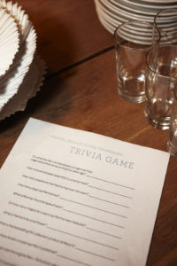 We played a fun little trivia game using facts about me and the company.