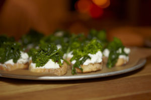 A toast of broccoli rabe and ricotta