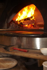 The wood-fired pizza oven