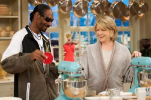 Snoop Dogg made mashed potatoes with me, adding his own special touches to my recipe.