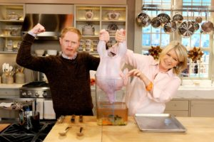 I showed Jesse Tyler Ferguson how to brine a turkey for Thanksgiving.