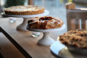 Everyone who walks by stops to look at these beauitful pies!