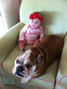 5 month old Maria Fernanda with Magnolia( 2 years old)