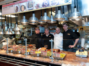 The Stamford Fairway has a popular cafe with many dining choices. The chefs there - Alan Moy, Justin Jacobson,   Alan Riesenburger and Vincent Olivieri -  created an entire menu of Power Foods to be served all day in their rotisserie area.