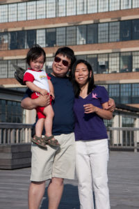 Employee Levi, his wife Susan, and their son Leon