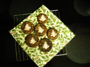 Landice Anderson from Arp, TX baked double chocolate cookies, a recipe in my Holiday Cookies magazine.