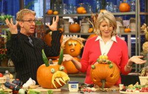 Andy Dick acted his comical self when we made pumpkin-patch creatures together.