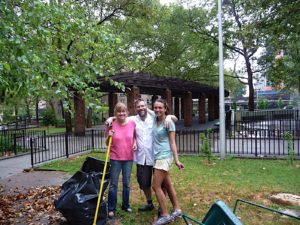 Jean, Mitch, and Erin were so happy when the rain finally stopped.