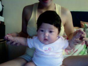 Paulette del Castillo, 3 months