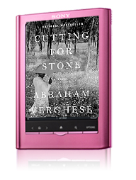 Here's how Cutting For Stone looks on The Sony Reader.