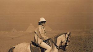 We rode by horseback through the Valley of Giza where the Great Pyramids of Khufu or Cheops, Kafhre and Menkaura are located. Each Pyramid is a tomb dedicated to a different king of Egypt.