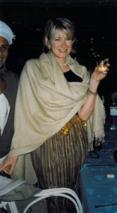 Because it was New Year's Eve, we had a celebration and I dressed as a new, vogue Cleopatra.