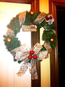 A wreath made by Cassy Phares from Oklahoma City.