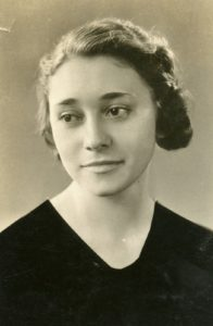 My mother's college yearbook photo from the University of Buffalo