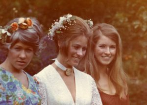 Laura, Kathy, and me at Kathy's wedding in the late 1960s