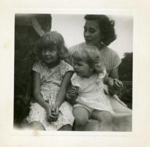 Here I am with Kathy and Mom - circa 1948