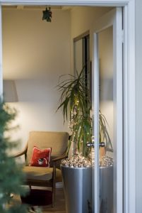 Laura Bear used the silver bulbs from my Living collection to decorate her home for the holidays.