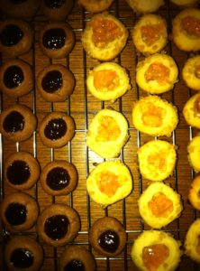 Liana Doyle from New York, NY was inspired by my December 2010 Living magazine to bake thumbprint cookies.