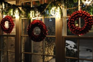 A festive window display created by Donna Aleck from Frankfort, IL.