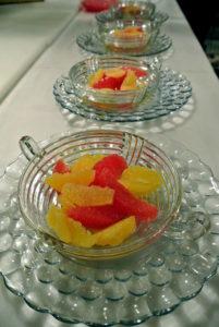 For dessert, a fresh bowl of citrus.