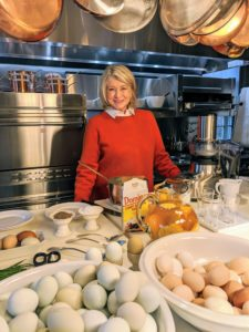 "I'm so glad I am able to shoot straight from my Winter House kitchen. I've done so many things here over the years – magazine photoshoots, Facebook, Instagram, and Zoom LIVE shows, and now many casual and fun lunch and dinner videos for all of you. You can find all my ""Homeschool with Martha"" videos and photos on my Instagram page @MarthaStewart48."
