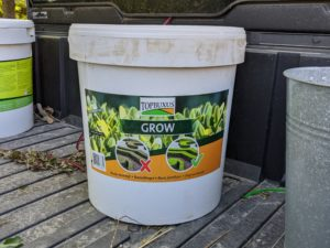 I also use TopBuxus Grow - a fast-acting boxwood fertilizer that stops and prevents yellow-straw colored leaves. It is an eco- and pollinator-friendly product that also comes in easy-to-use tablets.