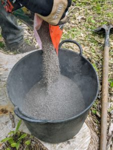 We use a lot of these trug buckets around the farm - they are so useful for holding fertilizer, but also great for gathering debris, vegetables, etc.
