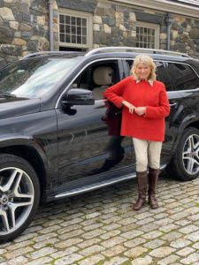Here I am before the broadcast with my Mercedes-Benz GLS550. It's such a great car. And, although it isn't getting much use these days, it's very comfortable to ride especially during my long one-hour commutes into New York City.