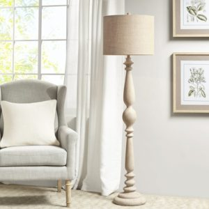 My Carra 65-inch Floor Lamp was created exclusively for my Bedford Collection. It offers a beautiful curved design on a natural-hued base. It features a tapered drum shade that provides soft and filtered light for any room.