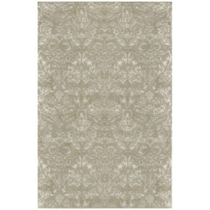 This is my Hand-Tufted Sage Area Rug. The intricate weave and opulent sheen create the fine-pattern details against the soft wool background. This design comes in a variety of rectangular sizes, as a runner, and as a six-foot round.