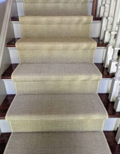 And within a couple of hours, the stairs are also done. The brass carpet rods and brackets will be put on next. Did you identify them correctly when I posted the rods on my Instagram page @MarthaStewart48?