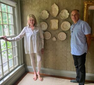 Here I am with David Kassel, owner of ILevel. David and I are standing in front of one of the walls now decorated with beautiful Wedgewood drabware. Don't worry, we both just removed our protective face masks for this photo.