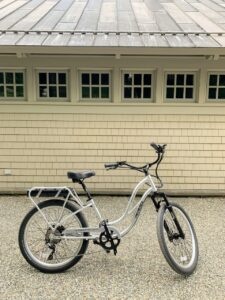 Kevin road this Interceptor: Platinum Edition E-Bike. From end to end, this bike is 75-inches long and its rear height from the ground to the top of the rack is 31-inches.