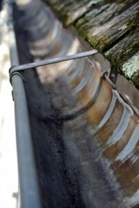 This is what the gutters should look like - especially before a big storm.