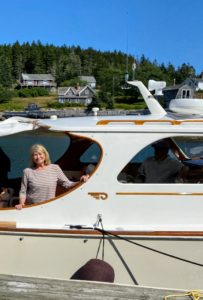 Whenever we could, we enjoyed lots of boat rides on Skylands II, my Hinkley picnic boat. My grandchildren, Jude and Truman, love going out on the water.