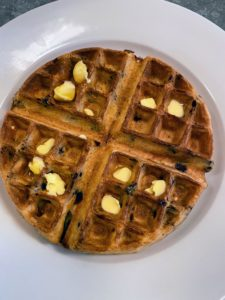 I enjoyed delicious blueberry waffles for breakfast on my birthday. This recipe by Donn Chappellet is one of my favorites - you can find it on my web site or by clicking on the highlighted link. You will love these waffles.