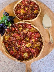Chef Pierre also prepared these tomato tarts - such a beautiful way to use up our bounty of sweet, fresh tomatoes.