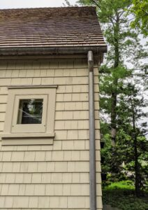 Gutters are designed to control the flow of water around the home. Keeping them clear prevents water back-up and moisture damage to the wood, fascia and foundation.