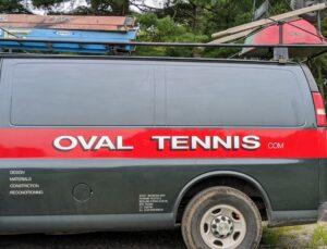 I've been using Oval Tennis for years and they always do a great job. The company specializes in tennis court construction and maintenance. And, while many services can be done by newer, faster machinery, Oval Tennis teams are trained to set-up, prepare, and maintain all courts by hand.
