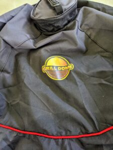 The Grill Dome comes with a protective cover. I thought it would be nice to add my personalized label on another side of this cover - it will complement the round Grill Dome label nicely.