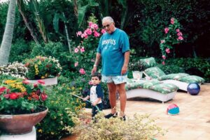 Here I am with my grandfather, Herbie, at his house in Palm Beach, helping water his potted plants. I was three in this picture and was just beginning to appreciate gardens.
